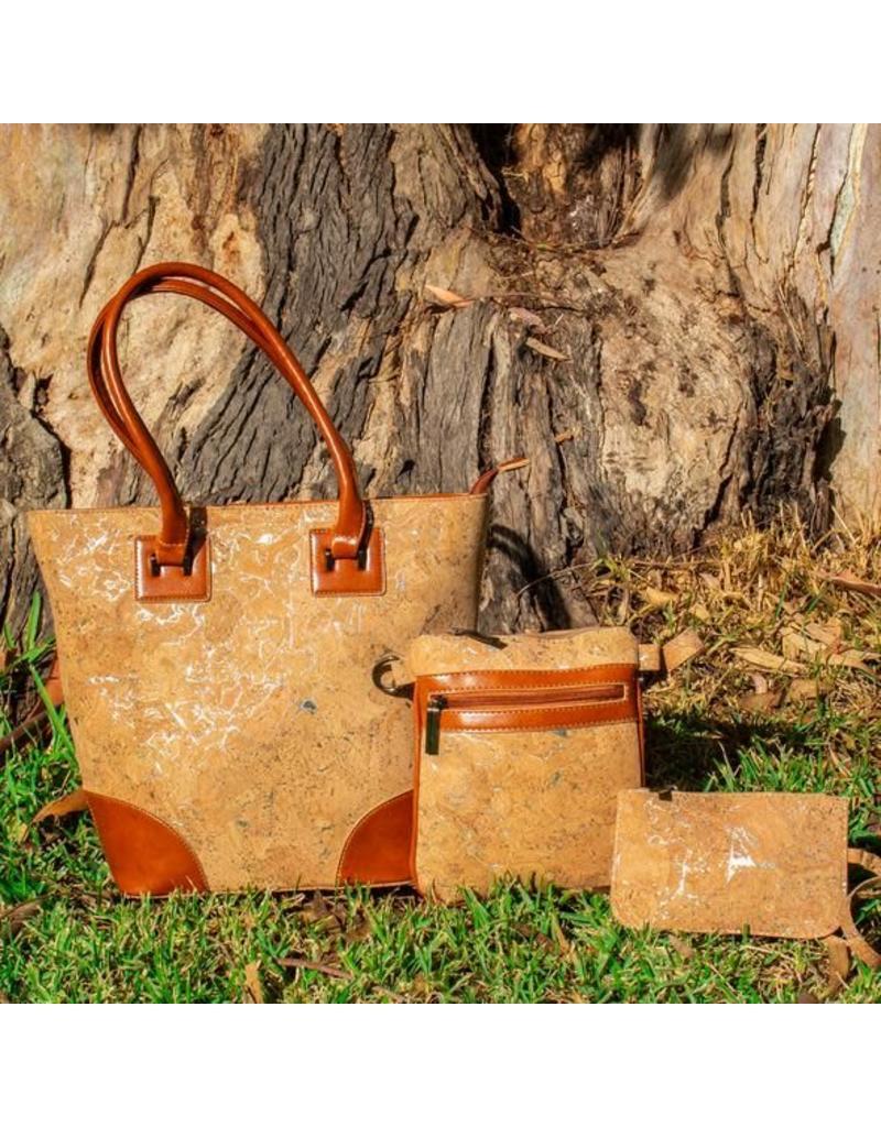 77fa4d43793 Captain Cork Set van 3 tassen: stijlvolle handtas met een schoudertasje en  portemonnee ...