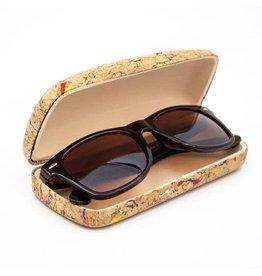 Captain Cork Cork hard case for glasses Natural with color patterned