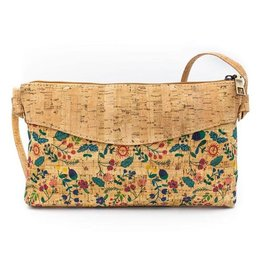 Captain Cork Shoulder bag Nathalie  with flowers, leaves and nuts