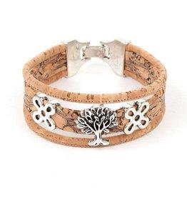 Captain Cork Wide bracelet out of cork Life Tree