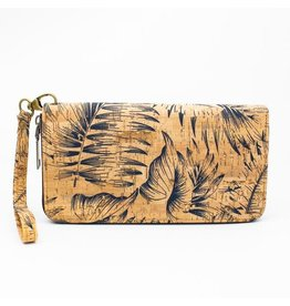 Captain Cork Purse with wristlet feathers