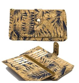 Captain Cork Purse for woman with cards and document holder feathers