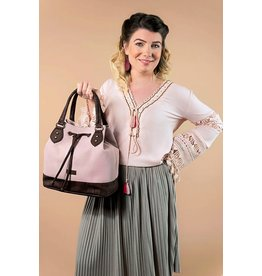 Bag Chantal with strap in light pink