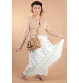 Captain Cork Schoudertas Linda Boho chic in naturel kleur