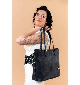 Captain Cork Large Shoulder bag Muriel with extra purse black