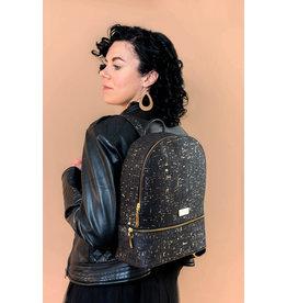 Backpack Petra Black Golden