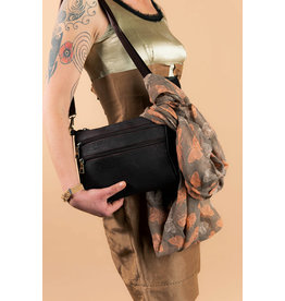Captain Cork Tourist bag Alexandra  made out of cork with double zippers Brown