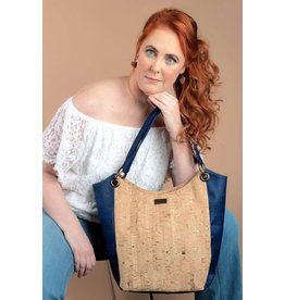Hobo Bag Karina Navy Blauw