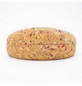 Captain Cork Brillendoos voor zonnebril Confetti kleuren