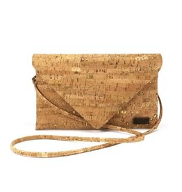 Captain Cork Kelly Envelop clutch in natural