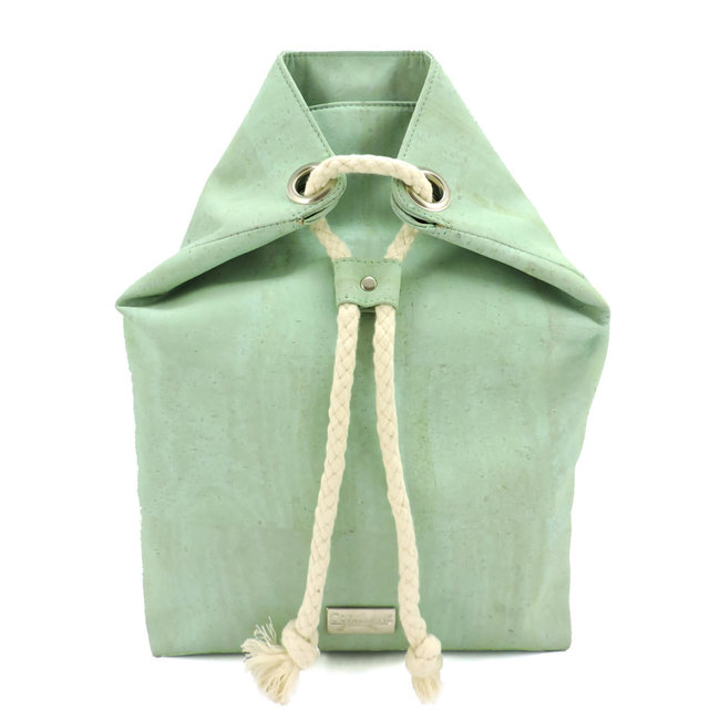 Captain Cork Sandy Back Pack with cord light green