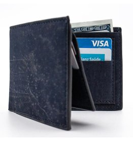Captain Cork Bjorn Cork wallet in dark Blue