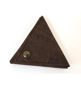 Captain Cork Driehoek portemonnee kleingeld bruin