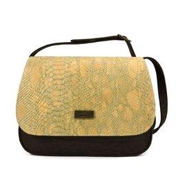 Captain Cork Bianca Shoulder bag brown, alligator golden
