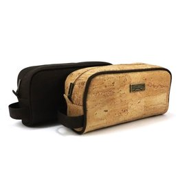 Captain Cork PATSY - Cosmetic toiletrie bag with zipper dark brown