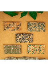 Captain Cork Wallet and card holder Elise pattern with nuts