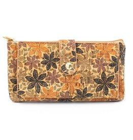 Captain Cork Wallet and card holder Elise orange flowers