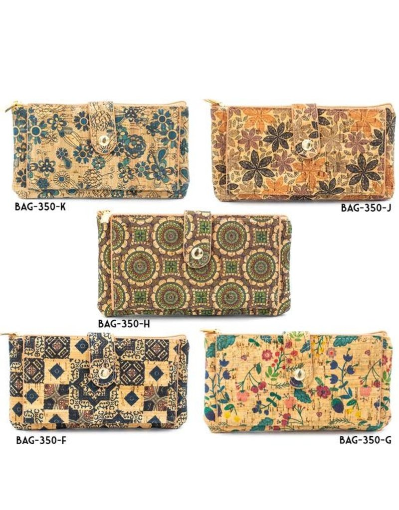 Captain Cork Wallet and card holder Elise Graphic pattern