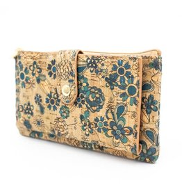 Captain Cork Wallet and card holder Elise blue flowers