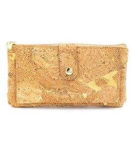 Captain Cork Wallet and card holder Elise natural gold