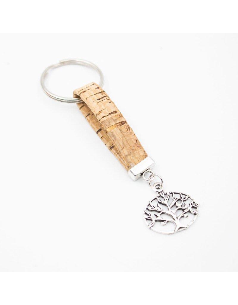 Captain Cork Key chain cork treeround