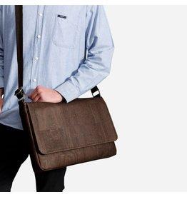 Captain Cork JO - Messenger laptop tas/business tas bruin
