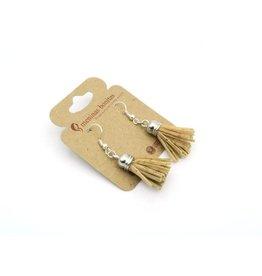 Captain Cork Earrings tassle Natural