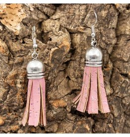 Captain Cork earrings tassle pink