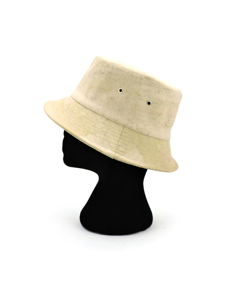 Captain Cork Bucket Hat White