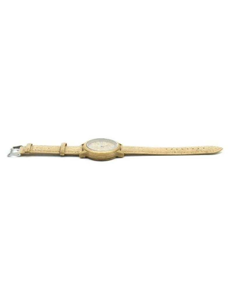 Captain Cork Cork watch with bamboo and strap out of cork leather in beige natural colors