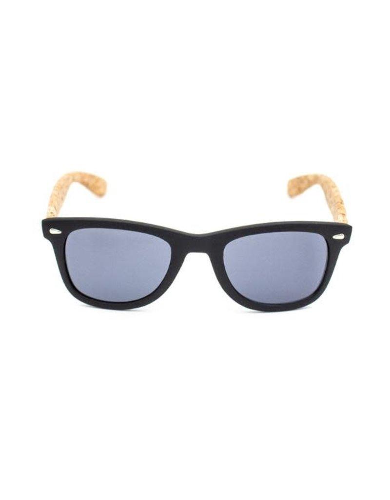 Captain Cork Vegan Sunglasses black with cork foldable colorful storage box