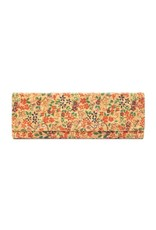 Foldable glasses or make-up box pink flowers print