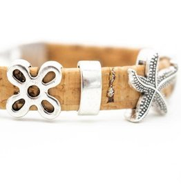 Captain Cork Cork bracelet nature with silver