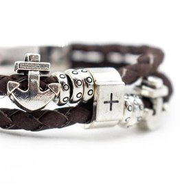 Captain Cork Brown Braided Cork Bracelet