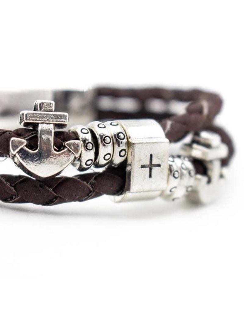 Captain Cork Bruin gevlochten kurken armband