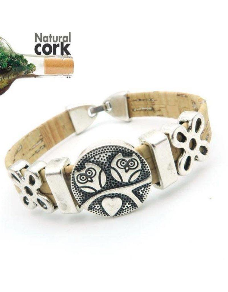 Captain Cork Kurken armband met schattige uiltjes