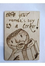 Captain Cork Wooden mother's day card