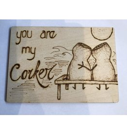 Captain Cork Wooden love card