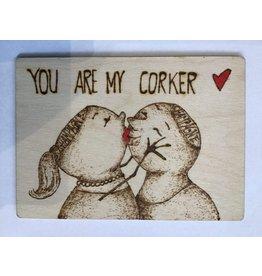 Captain Cork Houten liefdeskaartje