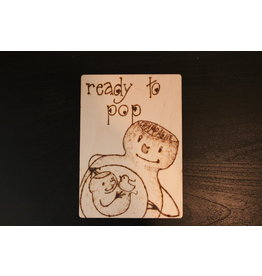 Captain Cork Wooden Birth card