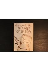 Captain Cork Houten Moederdagkaartje