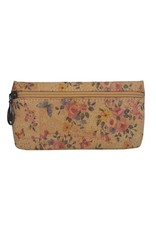Captain Cork ELLEN - The sustainable romantic edged floral pouch  make-up bag with beautiful floral print.