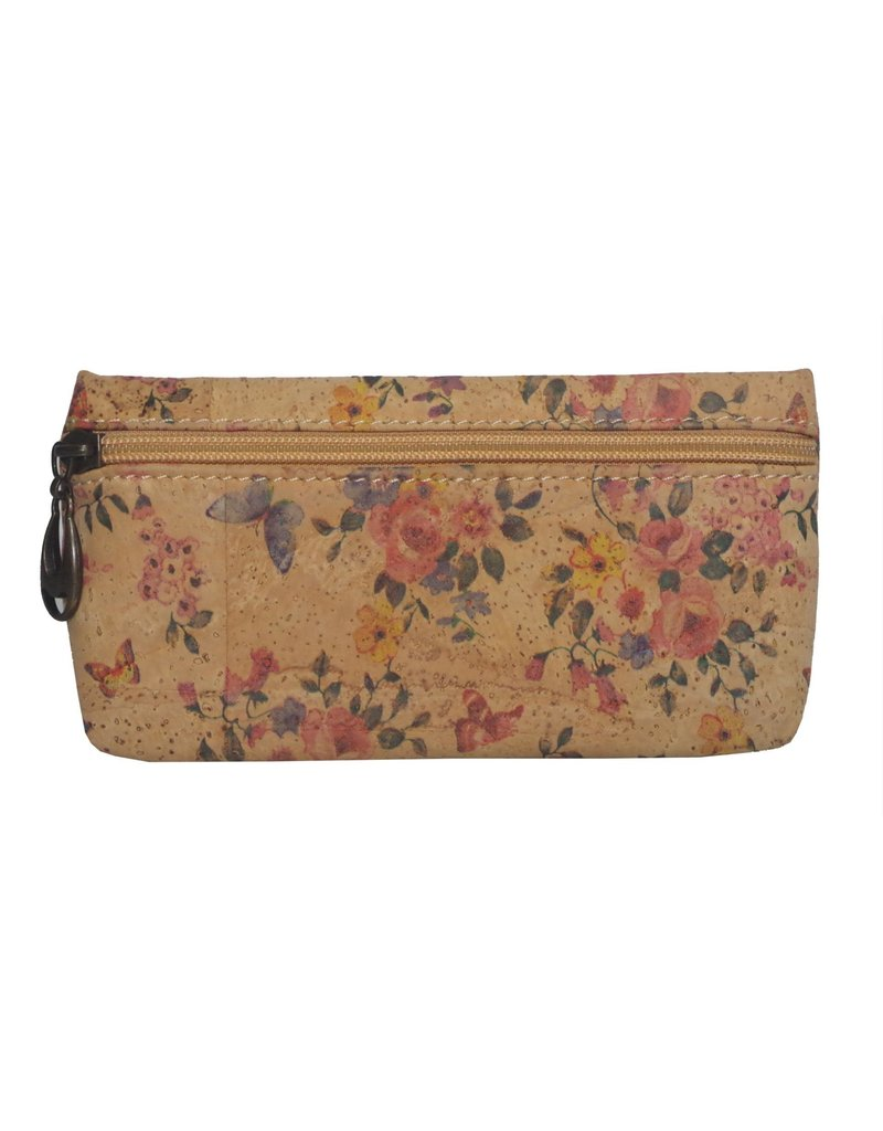 Captain Cork ELLEN - Duurzaam make-up tasje met fabuleuze florale print