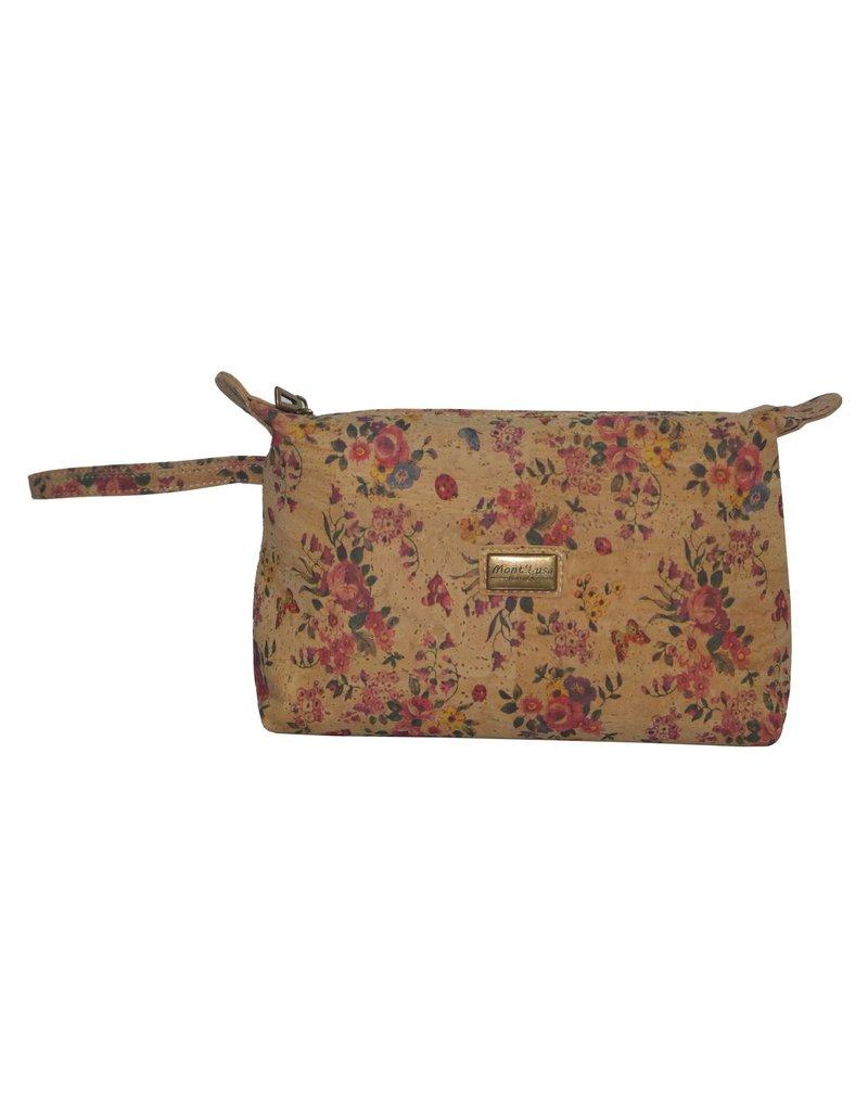 Captain Cork JITSKE - Make-up bag with braceletand beautiful flowerprint
