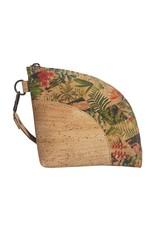 Captain Cork HALEY - Ecologische clutch/handtasje met prachtige bloemenprint