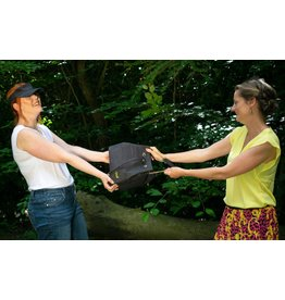 Captain Cork CHANTAL - Buckle bag with strap black/gold