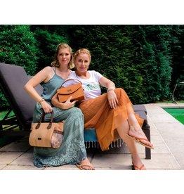 ADRIANNA - Large satchel bag Azulejo print
