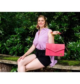 Captain Cork MILEY - Hand bag coral red