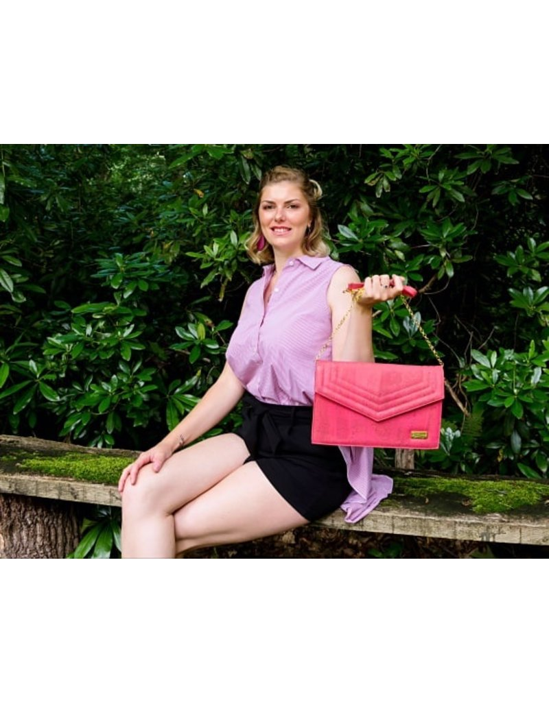 Captain Cork MILEY - Eco hand bag coral red
