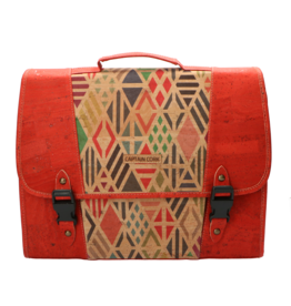 The little CAPTAIN - Schoolbag red/print